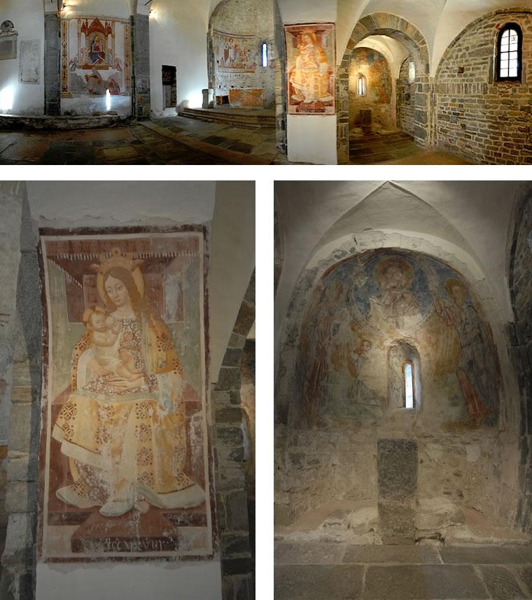 Interni della chiesetta di San Remigio