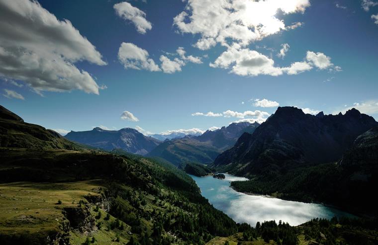 Lago Devero visto dall'Alpe Satta