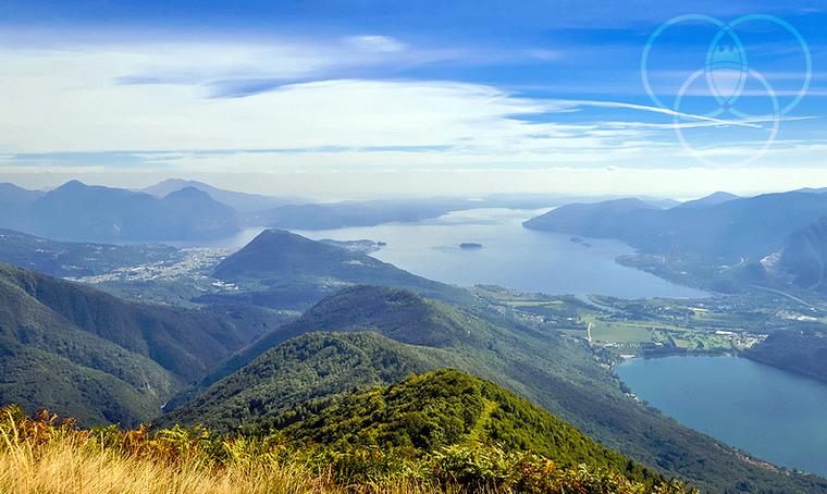 Il Lago Maggiore visto dal Monte Fajè