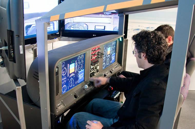 simulatore di volo a Volandia