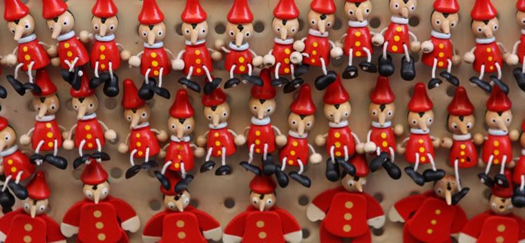 Pinocchio in legno artigianali