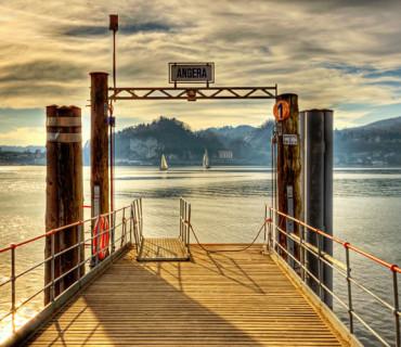 Angera Pontile della Navigazione Lago Maggiore