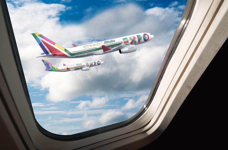 Etihad Airways ed Alitalia co-sponsorship di Expo Milano 2015