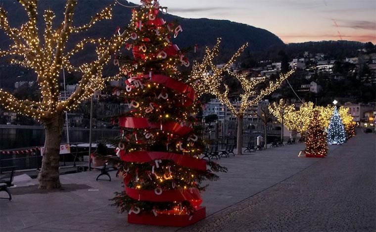 Ascona: mostra degli alberi di Natale