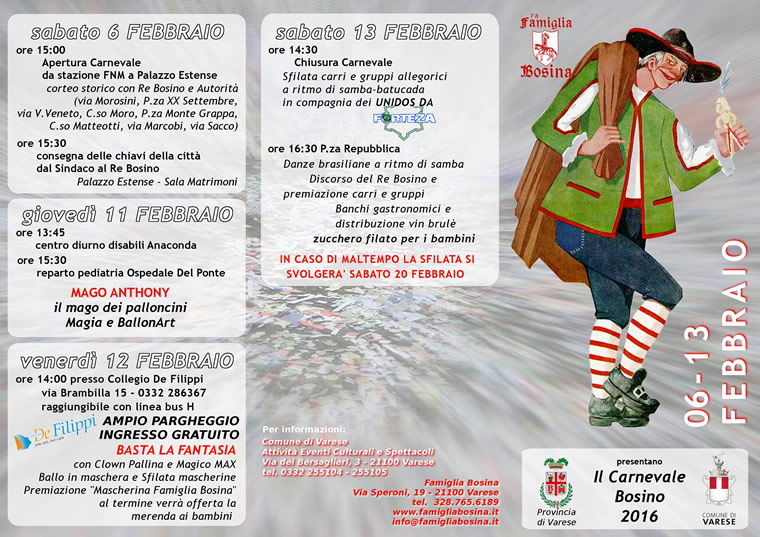 Carnevale Bosino 2016