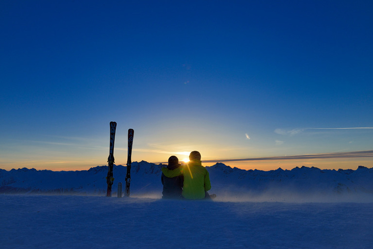 Tramonto Monte Rosa Ski