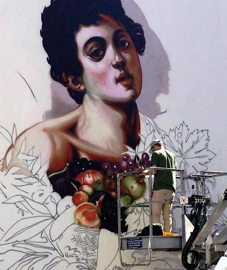 Ravo dipinge Caravaggio