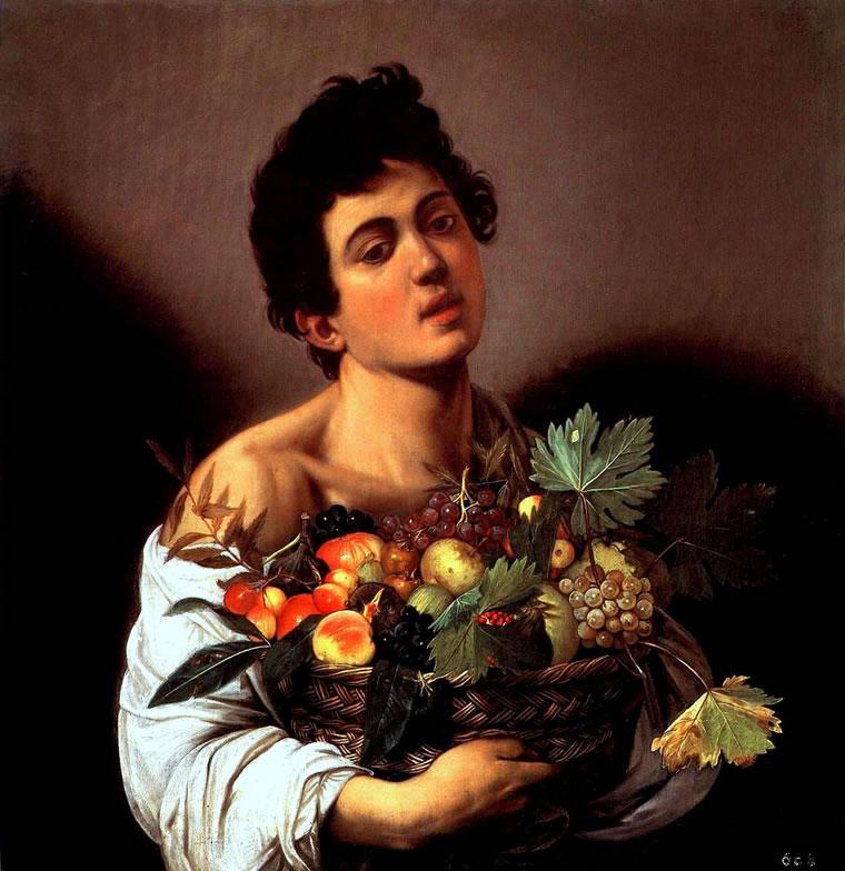 Fanciullo con canestra di frutta - Caravaggio