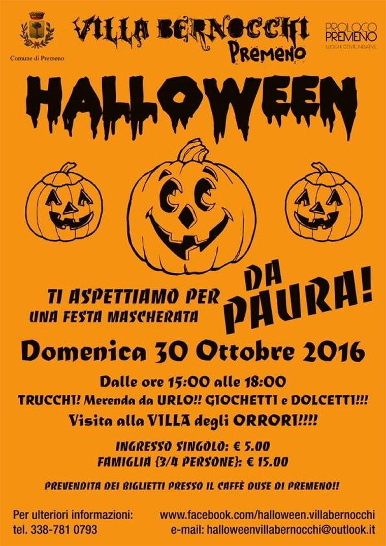 Locandina halloween villa Bernocchi