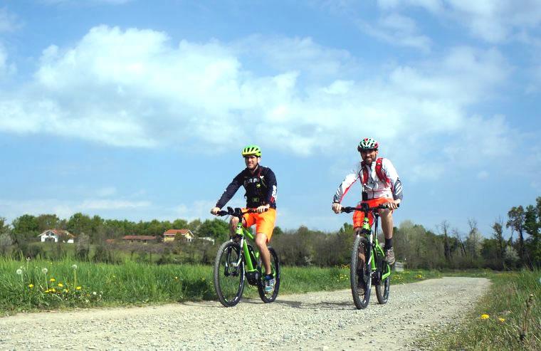 Risaie in bicicletta