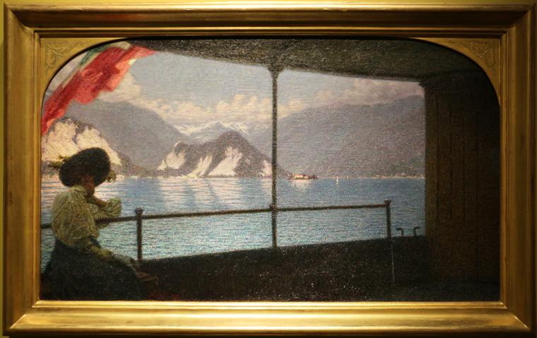 Angelo morbelli, battello sul lago maggiore, 1915, 01